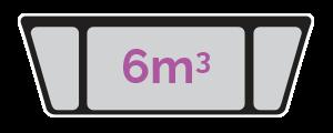 6m3 skip size